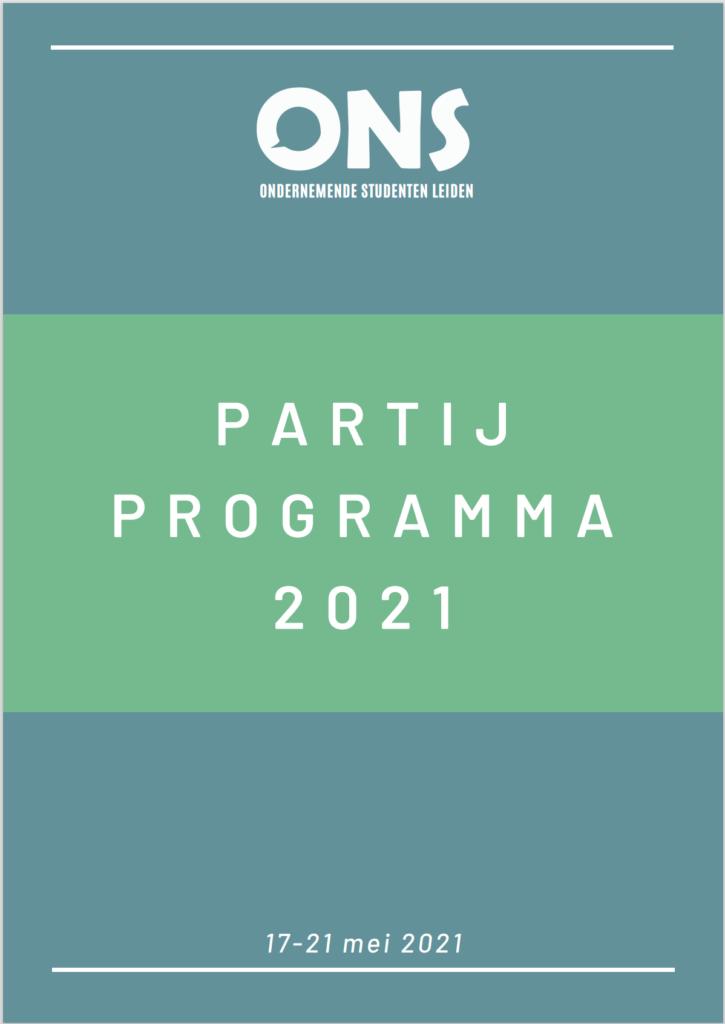 Partij programma sc voorkant